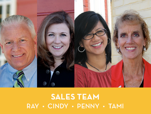 Sales Team - Ray, Cindy, Penny and Tami